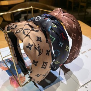 Kadınlar için Vintage Kafa Çiçek Düğümlü Saç Bandı Moda INS Kore Kızlar Saç Aksesuarları Peri Basit Çizgili Hairband