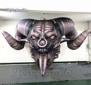 Pub e clube decorativa Horrível Demônio inflável Crânio 3m gigante de suspensão Devil Head para a decoração de Halloween