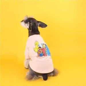 20ss Cartoon stampa magliette animali Impermeabili Dog Pup Kitty Schnauzer Teddy Bulldog Bichons Frises primavera e l'estate copre il trasporto libero