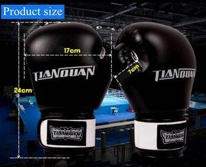 Adult Thick Boxing Gloves FULL finger Sanda Taekwondo Fight MMA Sandbag Glove Professional Training Equipment