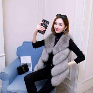Clobee 2019 de invierno de las mujeres abrigo de piel sintética chaleco de piel artificial chalecos peludos femme chaquetas más tamaño cálido falso chaleco z12