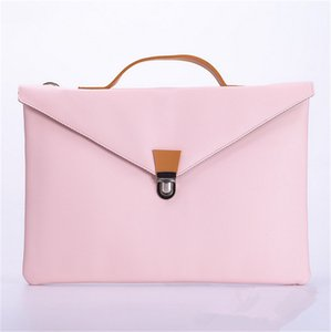Laptops Vegan Leather Laptop Bag Bolsa de escritório simples Lady Fashion Handbag Briefcase