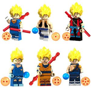 Çocuklar İçin Yeni Geliş Japonya Anime Çizgi Dragon Ball Z Super Saiyan Son Goku Vegeta Mini Oyuncak Action Figure Yapı Taşı