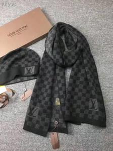 2019 qualità di lusso di marca Cappelli Sciarpe Alta imposta donne degli uomini di inverno del cachemire sciarpa di disegno Scialli Cappelli di lana Beanie avvolge Sciarpe Nave Con BOX