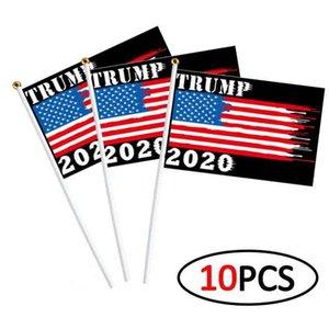 21 estilos bandera de la mano Trump 10pcs / set 14 * 21cm Donald Trump Flying EE.UU. mano la bandera Trump 2020 Banderas Elección Banner DHF491