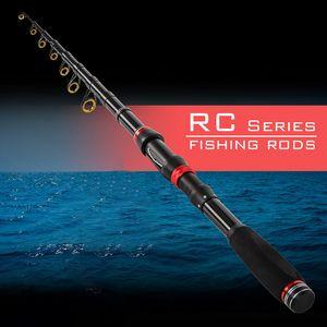 1.8m-3.0m carpe Spinning Rods pêche carbone poisson pôle télescopique Pêche Voyage Rod Ultrashort Pêche Tackle