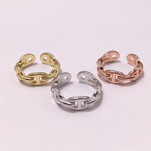 Anneaux d'ouverture en cuivre plaqué or rose jaune pour les femmes nouvelle arrivée vente chaude nouveaux bijoux de mode de luxe