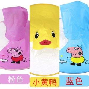 UFO children yellow duck Cloak cloak raincoat baby umbrella children Raincoat Boy Girl kindergarten students