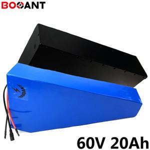 60V 20Ah 1000W bicicleta eléctrica bateria triângulo para a célula Samsung 18650 16S 60V 2000W Ebike lítio ion concha + metais