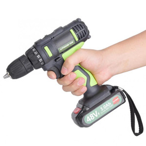 Mini Drill 21V 3.0Ah Li-ion Cordless Pistol Drill Rechargeable Electric Screwdriver 2 Batteries Lithium Battery