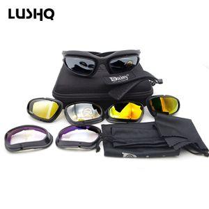 نظارات نظارات دراجة نارية Moto Moto متعدد الالوان Lushq Steampunk النظارات الشمسية Gafas نظارات نظارات 4 عدسة Occhiali قابل للاستبدال موتوكروس Puwuk