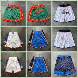 Los nuevos Mens OklahomaCiudadTrueno pantalones cortos de baloncesto 2020 cosido WizardsPantalones cortos SupersonicsPantalón corto DON bolsillo Shorts1