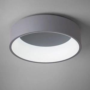 북유럽 라운드 알루미늄 디 밍이 가능한 LED 천장 조명 광택 아크릴 실 LED 천장 램프 침실 주도 천장 조명 빛 식사