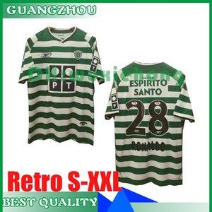 2003 2004 2005 2006 camisola retro de futebol Sporting CP Lisboa 03/04 05/06 Clássico Vintage RONALDO futebol Camisolas desportivas tamanho S-XXL