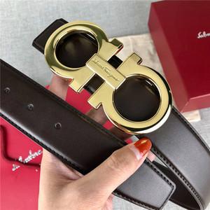 Großhandel Qualitäts-Luxus Gürtel Mode Marke Gürtel Männer und echter Ledergürtel Gold-Schnallen Partei Jeans Frauen mit Box