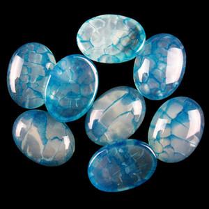30.9g 10pz 20x15mm Blue Dragon Veins Agate ovale Cab Cabochon 154-JM