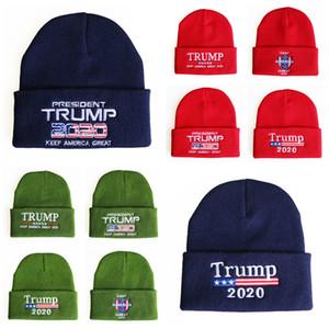 Nouveau chapeau de campagne Trump en 2020 automne et l'hiver en plein air chapeau de laine drapeau américain brodé rue hip hop chapeau T3I5419