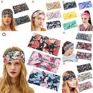 Grand Hairband Mode Sport Yoga Danse Biker Bandeau ruban élastique capuche extensible pour fille femmes Leopard fleur hibou imprimé tête wrap