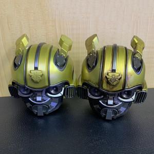 2019 beliebte Bumblebee Cassa Bluetooth Lautsprecher Mini Transformatoren Weihnachtskind Geschenk LED Blinklicht BT Boombox Hoporler Geburtstag niedlich heiß