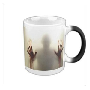 Kahve Çay Mug Soğuk Siyah Sıcak Beyaz Toptan değiştirme Yürüyüş Ölü Zombiler Seramik Isı Duyarlı Renk