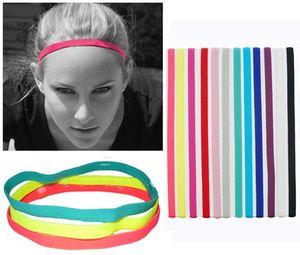 Sports Headband Men&Women Head Sweat Band Running Football Tennis Headscarf Silicone Anti-slip Elastic Sweatband Yoga HairBand DIY fashion