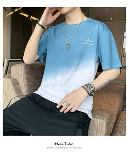 Summer Mens Designer Tshirts Short Sleeve O Neck Casual Comfortable Breathable Tees Loose Pullover Mens Shirts Patchwork Letter Printed