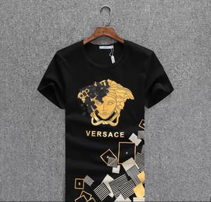 Le nuove camice 2020 T-shirt Moda Uomo Distintivo T per la manica corta in cotone con scollo a V T superiori magliette Marchi a21