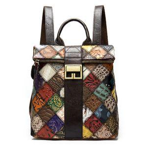 Hight Qualität Frauen Palm Springs Mini Rucksack echtes Leder Kinder Rucksäcke Frauen Druck Leder Mini Designer Rucksack 41560