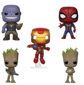 Avengers Alliance Toys 10pc set Funko POP iron and Steel man captain of the United States Iron Warrior hand-run ornaments high 9CM