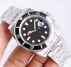 N usine Version 116610 En V10 ETA 3135 mouvement des hommes montres de luxe en céramique Cadre lumineux Calendrier montre de plongée DHL Livraison gratuite T1G