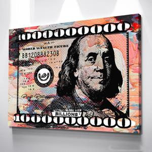 "Alec Monopoly ""Billions (Pastell)"" Home Decor Handbemalte HD-Druck-Ölgemälde auf Leinwand-Wand-Kunst-Leinwandbilder 200517"