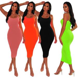 Летние женщины сексуальные платья горячие продажи Halter BodyCon ночной клуб юбка футболки женские повседневные рубашки без рукавов рубашки без рукавов мода розыгрыша вечеринка платье 1043-D5-4