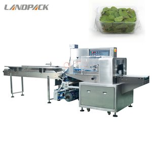 Tray Vegetable Commercial Packing Machine Multifunction Tray Food Flow Horizontal Wrap Machine