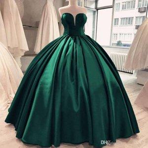 Yeşil Gelinlik Modelleri Seksi Sweetheart Kolsuz Korse Balo Abiye Göz Alıcı Ünlü Akşam Önlük Quinceanera Elbise elbiseler de soiree