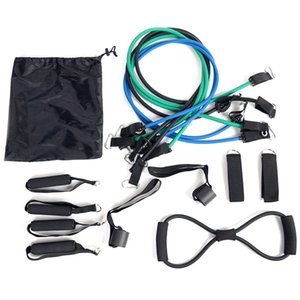 15 Pcs Resistance Band Suit Yoga Expander Fitness Exercise Rubber Tube Elastic Band Home Training