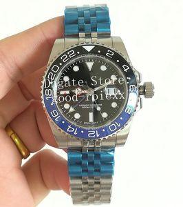 dos homens Data Jubileu pulseira relógios Mens Ásia relógio automático Homens 126710 Batman Gmt II Sapphire Perpétuos mestre Pepsi Crown pulso