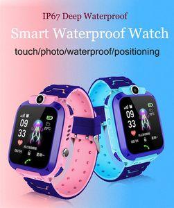 Q12 Kids Smart Watch Children Wrist Watch IP67 Waterproof With LBS Tracker SOS Camera SIM Call For Android PK DZ09 GT08 Q528 watch Fast DHL