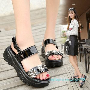 Fashion Womens Shoes 2019 Wedge Female Sandal Buckle Strap Beach Sandals Muffins shoe Clear Heels Med All-Match 2019 r08