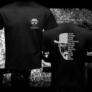 Breaking Bad Quote Heisenberg Americano Filme Clássicos Preto dos homens T-Shirt 2019 Novos Homens de Verão Homens de Algodão de Manga Curta Tee camisas