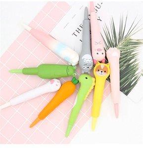 36 piezas / set de escritura creativa linda Squize plumas de dibujos animados de estrés interesante mitigador de los estudiantes de la escuela pluma descomprimir Bolígrafos de gel