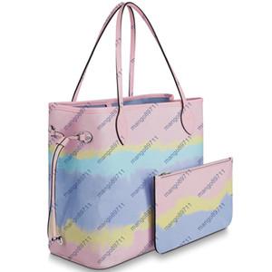 Brillante beach style Designer borse della borsa borse a tracolla composito tote PU frizione borsa in pelle femminile con 2pcs portafoglio / set