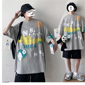 Summer Mens Designer Tshirts Loose Letter Printed Hip Hop Style Tops Mens 2020 Luxury Designer Clothes