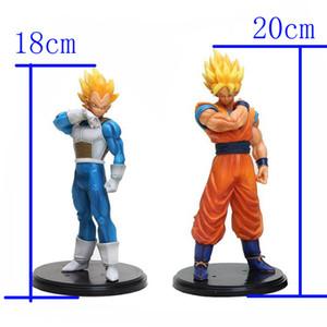 De alta calidad de 20 cm de Dragon Ball Z Goku y Vegeta 18cm figura de acción de PVC Colección Modelo Juguetes para regalo del festival