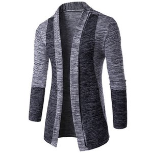 Autumn Classic Cuff Hit Colors Men's Sweaters High Quality Cardigan Casual Coat 2018 New Fashion Men Sweaters Knitwear