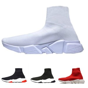 Balenciaga socks and shoes air jordan off white slipper vepormax nmd basketball vans men shoes Gypsophila Triplo Preto Moda Plana Meia Botas Sapatos Casuais Speed ​​Trainer Runner