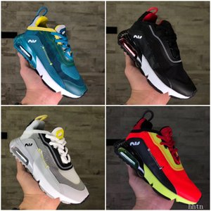 Nike Air Max Vapormax 2090 2020 Infant sapatos Baby Boy menina miúdos Youth crianças correndo Sports Shoes pirata preto Sneakers Classic EUR 28-35