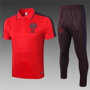 2020-2021 Парижской мужской спортивной одежды Реал Мадрид Париж костюм футбол спортивной костюм куртка 20 21 футбол обучение костюм с коротким рукавом Спортивные костюмы