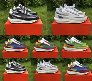 2019 sapatilhas do desenhista Waffle LD WAFFLE x SACAI Blazer Mid LDWAFFLE Shoes Mulher Running Man Verde Gusto Varsity Blues Formadores Sneakers