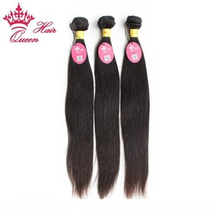 M Queen Hair Unprocessed Virgin Hair Free Shipping Peruvian Human 3pcs Lot Straight Hair Extension ,Color1b # ,12 &Quot ;-28 &Quot ;
