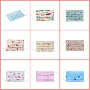 50pcs Disposable Children's Mask Anti-fog Protective Mask Disposable Masks Cotton Pad Safety Filter Anti-pollen Dust Mask